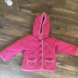 🌵 baby Gap Pink Quilted lined coat